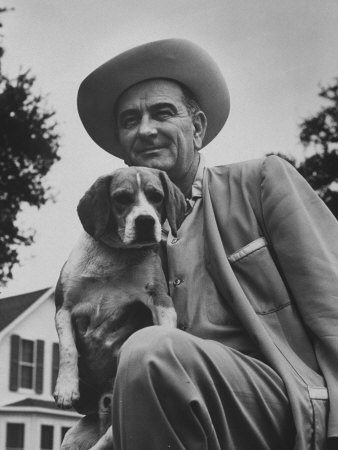 891299senator-lyndon-b-johnson-with-pet-called-little-beagle-jr-on-his-ranch-posters